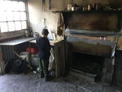 Moa hut fireplace
