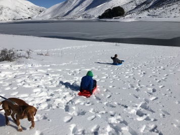 Not quite steep enough for great sledding