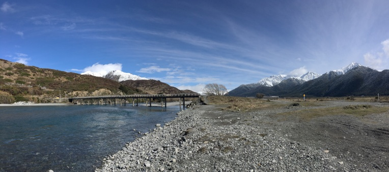 Mt White Bridge Looking West. Waimakariri River
