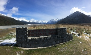 The head waters of the Waimakariri