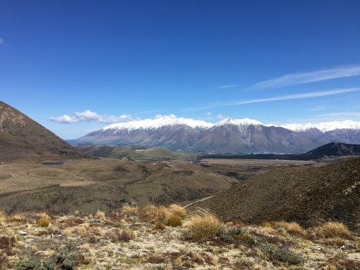 Looking South to The Rakaia and the Mt Hutt Range
