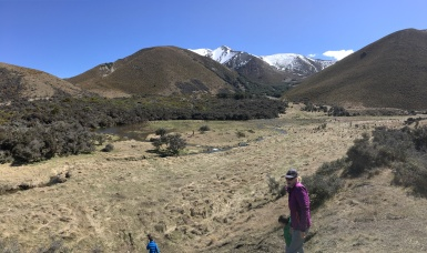 About to start walking up the valley
