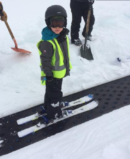 Ryan, 1st day skiing